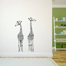 Tall Giraffes For Nursery Playroom Kids Room Vinyl Wall Decal Sticke Imprinted Designs