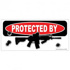 Protected By Ar 15 Rifle Sticker Az House Of Graphics