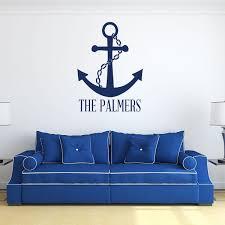 Personalized Ship Anchor Family Name Wall Decal Living Room Vinyl Decor Customvinyldecor Com