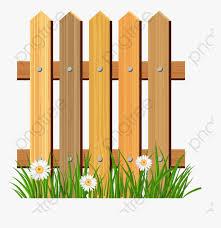 Fence Barrier Cartoon Fences Flower Garden Clipart Png Transparent Png Kindpng