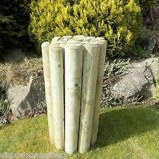 log roll border garden edging