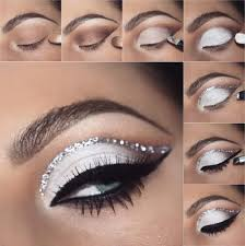 new year s eve silver eye makeup