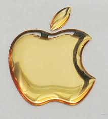 1pcs 3d Golden Domed Apple Logo Stickers For Iphone Ipad Cover Size 50x43mm Ebay