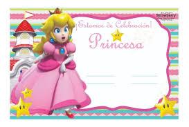 Invitacion Tipo Pizarron Princesa Peach 02 1 Mario Bros 100 00