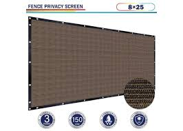 Brown 8ft X 25ft Polyethylene 150gsm Privacy 88 Fence Screen Windscreen4less