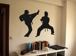 Amazon Com Martial Arts Karate Tae Kwon Do Jiu Jitsu Kids Bedroom Vinyl Wall Decal Home Kitchen