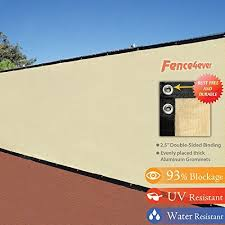 Decorative Fences 6 X 50 3rd Gen Tan Beige Fence Privacy Screen Windscreen Shade Fabric Mesh Tarp Aluminum Grommets Shade Cover Wind Screen Privacy Screen