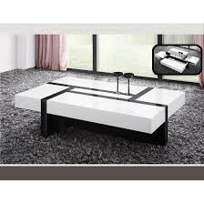 storm coffee table in white and black