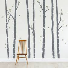 Birch Tree Wall Decals Forest Wall Decal Wallums