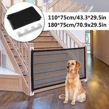 Magic Dog Gate Magic Gate For Dog Black Portable Mesh Folding Safety Fence Pet Gate Isolated Gauze Indoor And Outdoor Safety Gate Install Anywhere Walmart Com Walmart Com