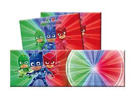 6 Invitaciones P J Masks Oficial Stock