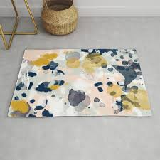 minimal gold navy painting home decor
