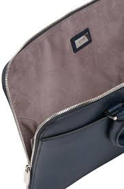hugo boss dark blue leather portfolio