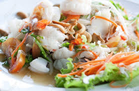 Thai Spicy Seafood Salad Stock Photo ...