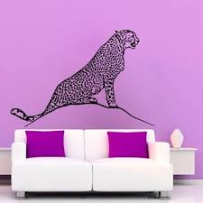 Shop Cheetah Wall Decals Leopard Stickers Vinyl Decor Home Art Mural Kids Room Interior Design Sticker Decal Size 22x26 Color Black Overstock 14622539