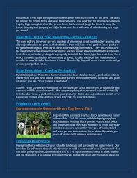 Deer Fencing Pages 1 4 Flip Pdf Download Fliphtml5