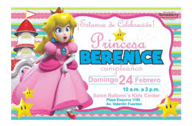 Invitacion Tipo Pizarron Princesa Peach 02 Mario Bros 85 00 En