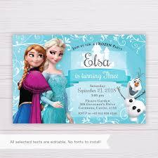 Frozen Elsa Invitation Template En 2020 Con Imagenes Tarjetas