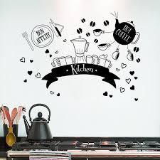Shop Kitchen Shelves With Cookware Kettle Bon Appetit Wall Art Sticker Decal Overstock 11179690