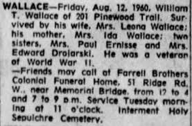 Obituary- William T. Wallace (D&C, page 8) - Newspapers.com
