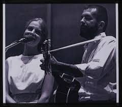 Barre Toelken playing guitar and Polly Stewart singing - Barre Toelken  Fieldwork Image Collection - USU Digital Collections