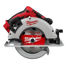 Milwaukee Tool M18 18v Lithium Ion Brushless Cordless 7 1 4 Inch Circular Saw Tool Only The Home Depot Canada
