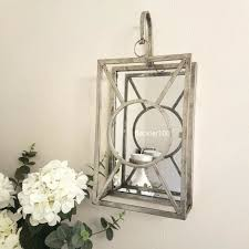 tealight candle mirror sconce wall