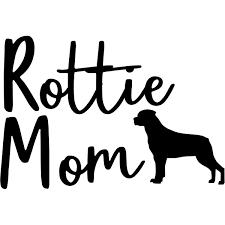 Rottweiler Mom Car Decal 904 Custom