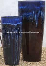 blue glazed pottery large ceramic