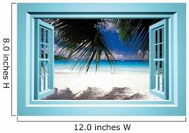 African Paradise Faux Window Wall Decal Wallmonkeys Com