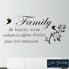 Wall Stickers Family Tree Roots Love Quote Art Decals Vinyl Decor Room Home Ebay