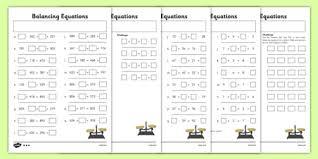 balancing equations worksheet pack