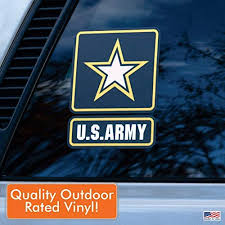 Amazon Com Officially Licensed U S Army Large 6 Us Military Sticker For Truck Or Car Windows Large Military Car Decals Military Collection Automotive