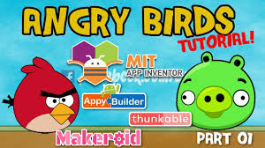 App Inventor 2 Angry Birds 😱 game app tutorial part 01