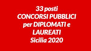 33 posti CONCORSI PUBBLICI per DIPLOMATI e LAUREATI Sicilia 2020 - WorkISJob