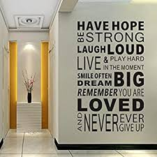 Amazon Com Wall Stickers Murals Words Phrases Wall Stickers Murals Paint Wall Tools Home Improvement
