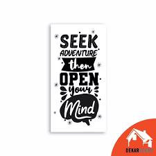 dekardekor hiasan dinding quote motivasi poster vintage poster