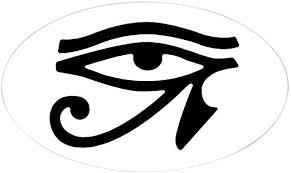Amazon Com Cafepress Eye Of Horus Oval Sticker Oval Bumper Sticker Euro Oval Car Decal Home Kitchen