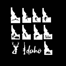 Idaho Sticker 3 Pack Heart Idaho Sticker Home Idaho Sticker Etsy In 2020 Outdoor Stickers Waterproof Stickers Vinyl Sticker