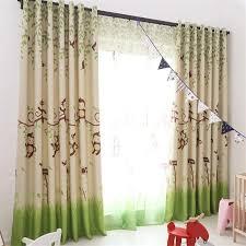 Blackout Curtains Cartoon Monkey Kid Bedroom Window Sheer Tulle Curtai Johnkart Usa Llc