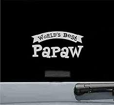 Amazon Com Js Artworks Worlds Best Papaw Grandpa Grandfather Papa Dad Vinyl Decal Sticker Silver Automotive
