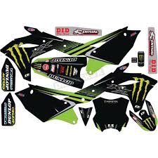 D Cor Visuals Kawasaki Monster Energy Complete Graphics Kit 20 20 638 Dirt Bike Motocross Dennis Kirk