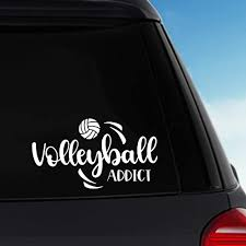 Amazon Com Volleyball Addict Vinyl Sticker Decal Car Decal Laptop Decal Handmade