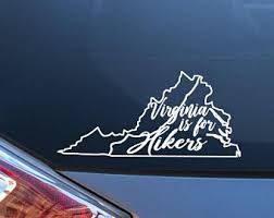 Virginia Is For Hikers Car Decal Vinyl Sticker Appalachian Etsy