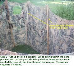 free deer hunting ground blind plans