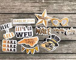 Wake Forest Stickers Etsy