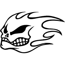 Amazon Com No Fear Skull Flame Vinyl Graphic Car Truck Windows Decor Decal Sticker Die Cut Vinyl Decal For Windows Cars Trucks Tool Boxes Laptops Macbook Virtually Any Hard Smooth Surface