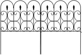 Amazon Com Amagabeli Decorative Garden Fence Outdoor Coated Metal Rustproof 32in X 10ft Landscape Wrought Iron Wire Border Folding Patio Fences Flower Bed Fencing Barrier Section Panels Decor Picket Edging Black