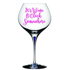 Wine Decal Drinking Decal Wine O Clock Somewhere Decal Etsy