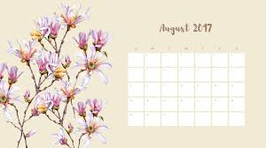 desktop wallpapers calendar august 2018